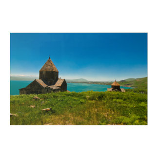Sevan Monastery Landscape Acrylic Wall Art