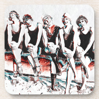 Seven Bathing Beauty Pals Beverage Coasters