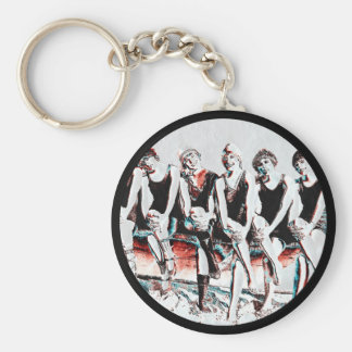 Seven Bathing Beauty Pals Key Ring
