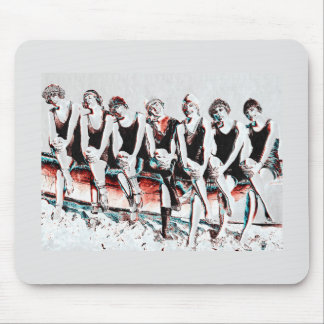 Seven Bathing Beauty Pals Mouse Pad