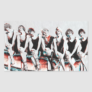 Seven Bathing Beauty Pals Rectangular Sticker