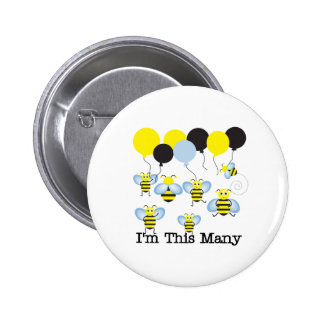 Seven Bees I m This Many Buttons