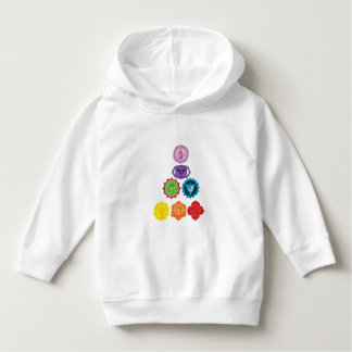 Seven Chakra Yoga Kids Toddler Pullover Hoodie
