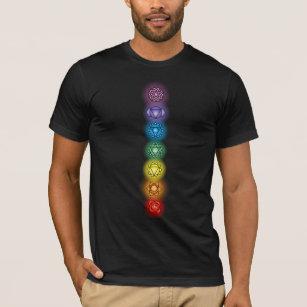 Seven Chakras American Apparel Black T-Shirt