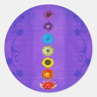 Seven Chakras Gift - Purple Round Sticker