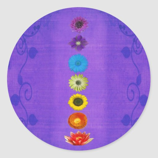 Seven Chakras Gift - Purple Stickers