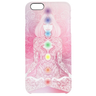 Seven Chakras Pink Lady Clear iPhone 6 Plus Case