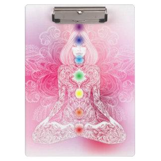 Seven Chakras Pink Lady Clipboard
