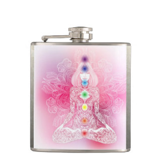 Seven Chakras Pink Lady Hip Flask