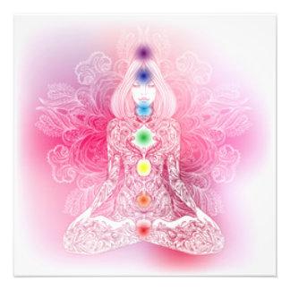 Seven Chakras Pink Lady Photo Print