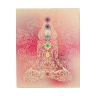 Seven Chakras Pink Lady Wood Print