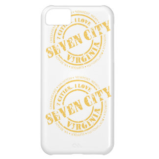 Seven City Stamp - Yellow iPhone 5C Case