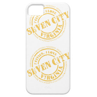 Seven City Stamp  - Yellow iPhone 5 Case