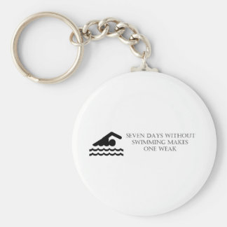 Seven Days Without Swimming Makes One Weak Key Ring