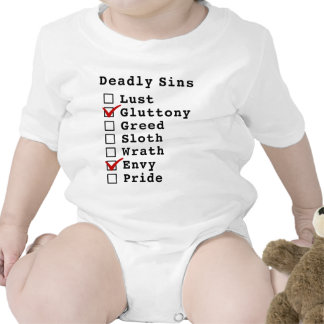 Seven Deadly Sins Checklist (0100010) Baby Bodysuit