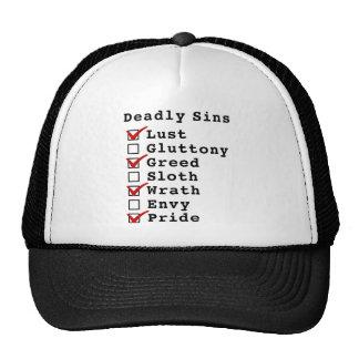 Seven Deadly Sins Checklist (1010101) Trucker Hat