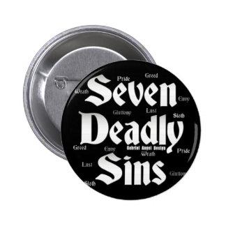 Seven Deadly Sins Logo 6 Cm Round Badge