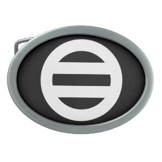 Seven dividing two pulling oval belt buckle