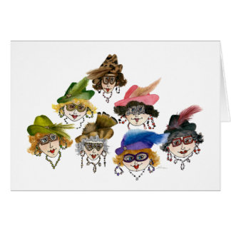 Seven Fabulously Whimsical Ladies Card