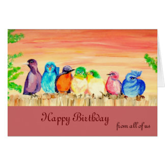 Seven Friends Birthday Card