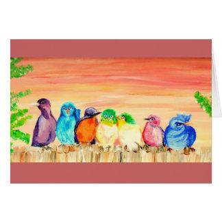 Seven Friends Geeting Card