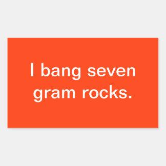 Seven gram rocks rectangular sticker