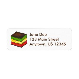 Seven Layer Italian Rainbow Christmas Cookie Label Return Address Label