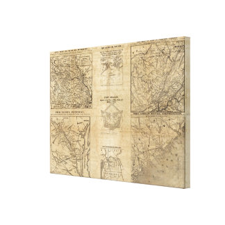 Seven maps from the New York Herald Canvas Prints