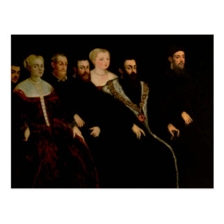 Seven members of the Soranzo Family Postcard