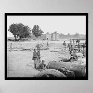 Seven Pines Battlefield in VA 1862 Poster