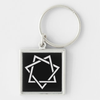 Seven Pointed Star Key Ring