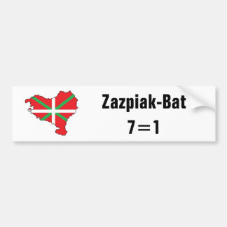 Seven Provinces One Basque Country Bumper Sticker