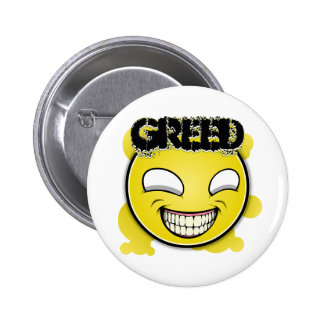 Seven Sins Faces - Greed Pinback Buttons
