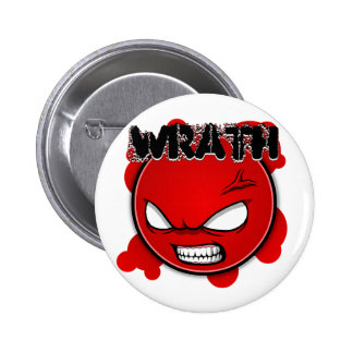 Seven Sins Faces - Wrath 6 Cm Round Badge