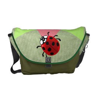 Seven-Spotted Ladybug Messenger Bags