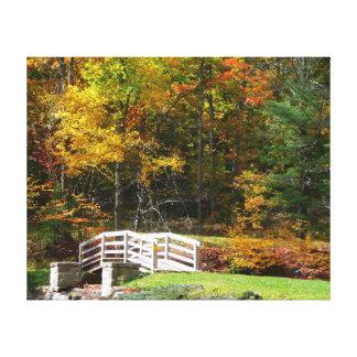 Seven Springs Fall Bridge I Canvas Print