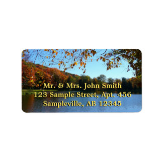 Seven Springs Fall Trees and Pond Address Label