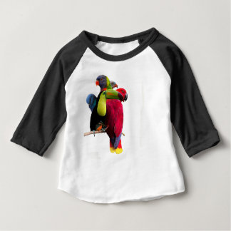 Seven Tropical Bird's Baby T-Shirt