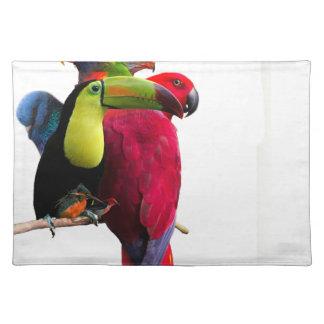 Seven Tropical Bird's Placemat