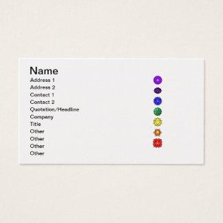Seven vertical chakras business card