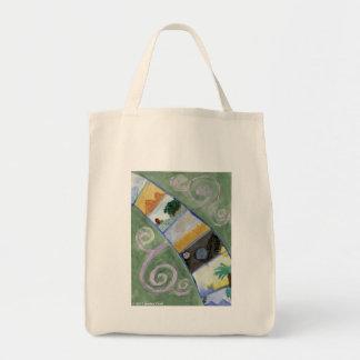 Seven Wonders Grocery Tote Bag
