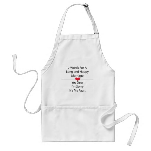 Seven Words For a Long and Happy Marriage Apron