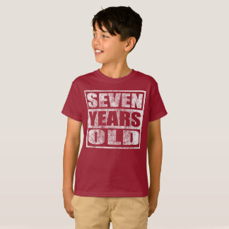 Seven Years Old - Happy 7th Birthday T Shirt