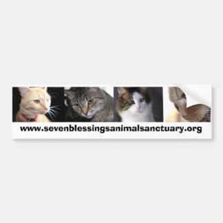 sevenblessingsanimalsanctuary.org bumper sticker