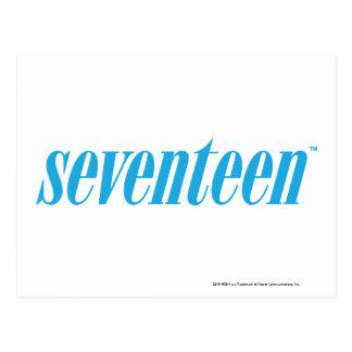 Seventeen Logo-Aqua Postcard