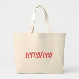 Seventeen Logo-LtPink Large Tote Bag