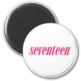 Seventeen Logo-Magenta Magnet