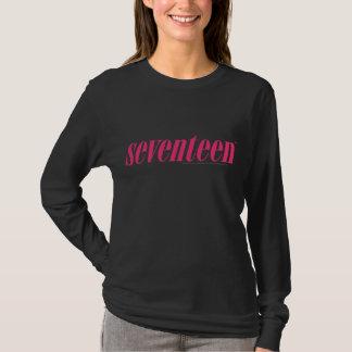 Seventeen Logo-Magenta T-Shirt