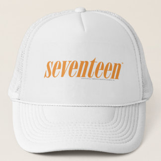Seventeen Logo-Orange Trucker Hat