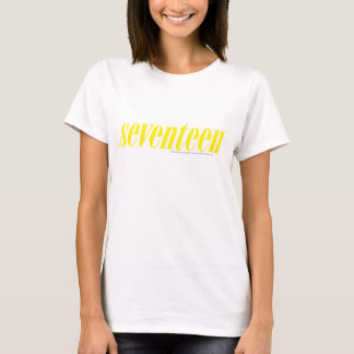 Seventeen Logo-Yellow T-Shirt